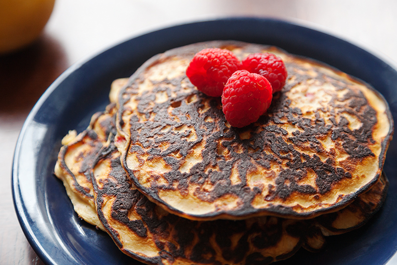 Green Behavior: Recipe of the Week: Raspberry-Ricotta Pancakes