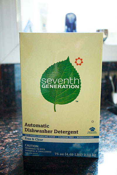 Green Behavior: Seventh Generation Automatic Dishwasher Powder, Free & Clear
