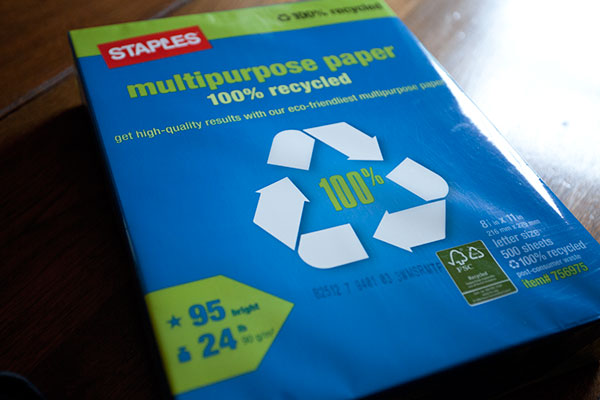 Green Behavior: 100% Recycled Multipurpose Paper