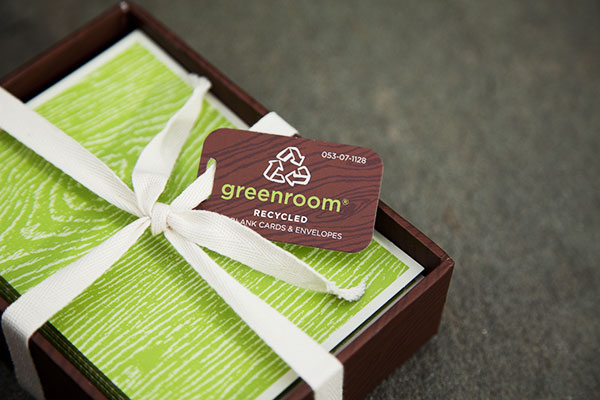 Green Behavior: Greenroom Recycled 24-Count Boxed Notecards